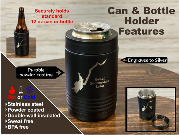 Raquette Lake New York - 12 oz Can and Bottle Holder
