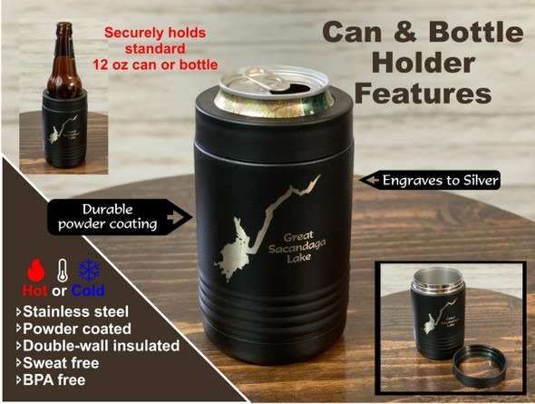 Lake Saint Catherine Vermont - 12 oz Can and Bottle Holder