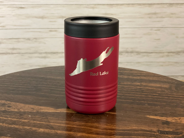 Red Lake New York - 12 oz Can and Bottle Holder