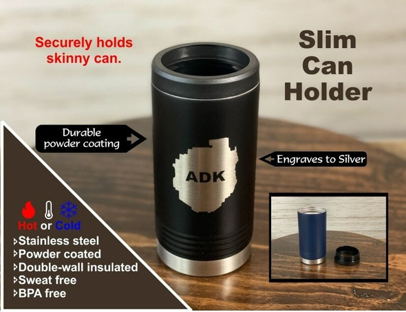 Life is Better on the River - Skinny Can  Holder