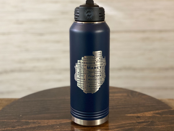 46 High Peaks Adirondack Park - 32 oz Insulated Water Bottle