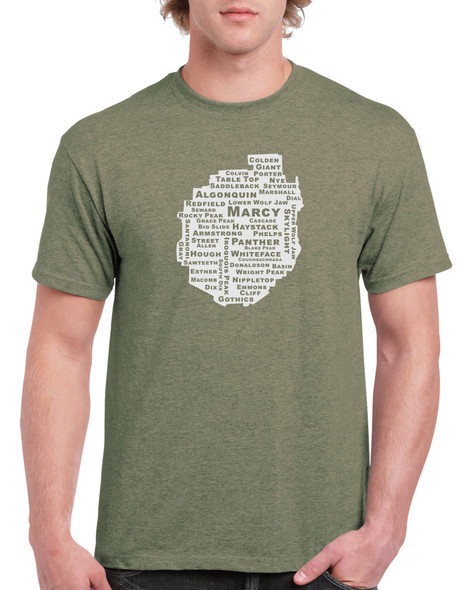 46 High Peaks in the Adirondack Park  T-Shirt