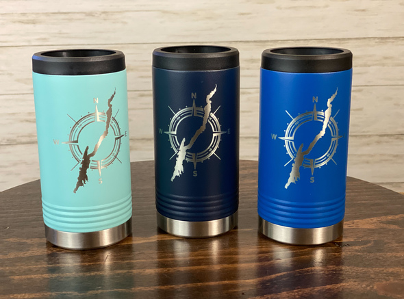 Lake George in Compass - Skinny Can  Holder