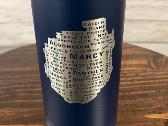 46 PEAKS IN THE ADK - Navy 32 oz Insulated Water Bottle