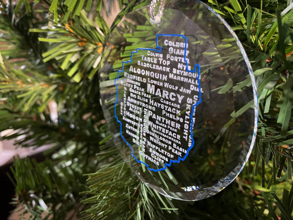 46 High Peaks - round glass ornament