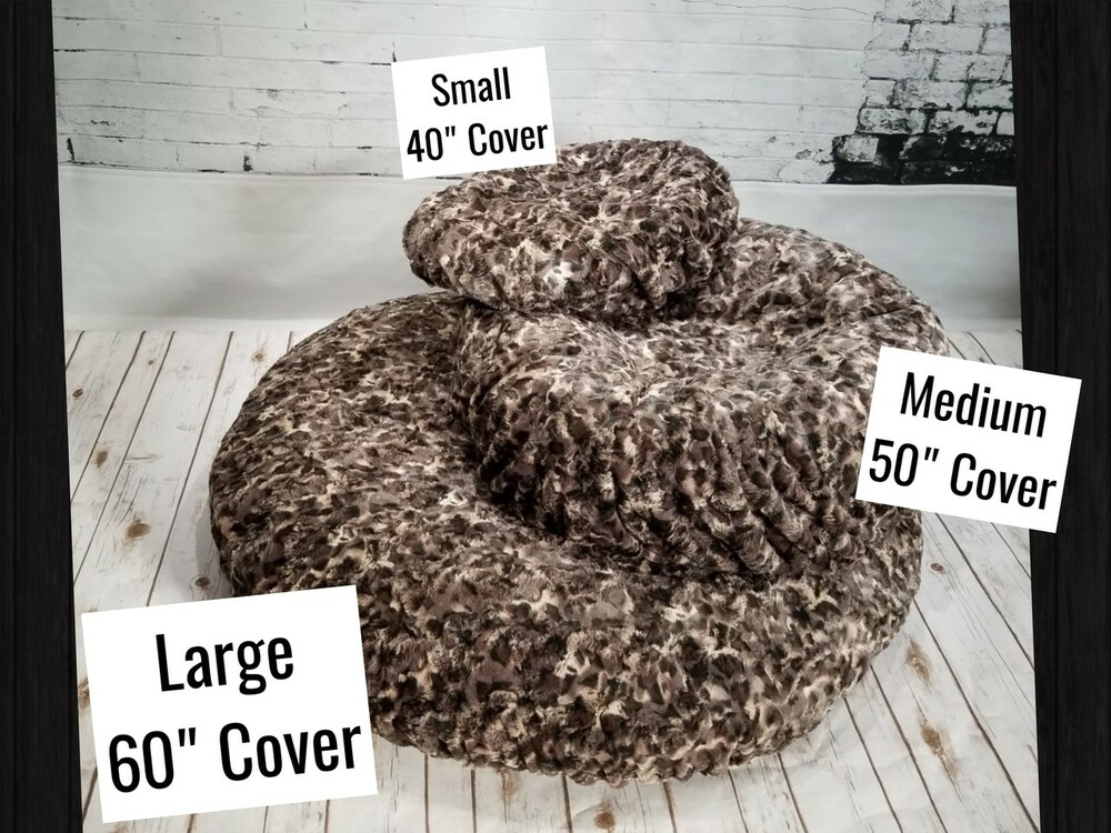 Small covers are meant for the very small dog or cat beds.  Medium covers would fit a majority of an average size bed. Large cover where designed to fit the giant Costco dog beds.