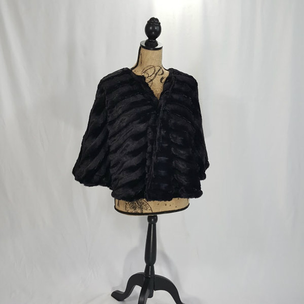 "*Sable in Black - 48"" Wrap, Divine Fabric -QS"