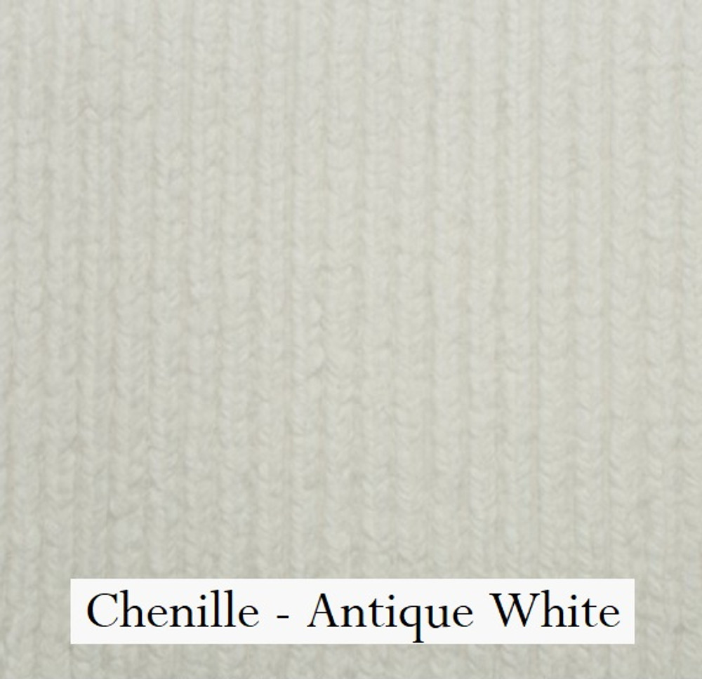 "*Chenille - Antique White:  30""x40"" Blanket *QS"