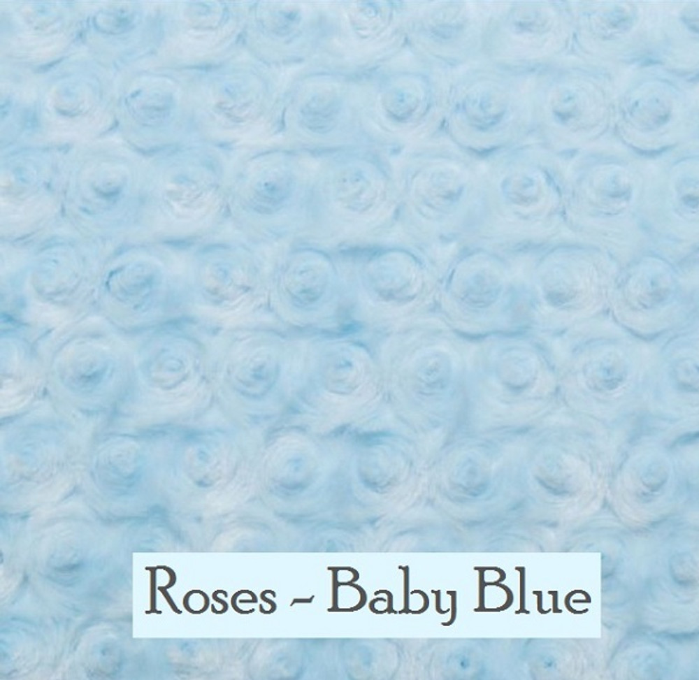"*Roses - Baby Blue:  30""x 40"" Blanket *QS"