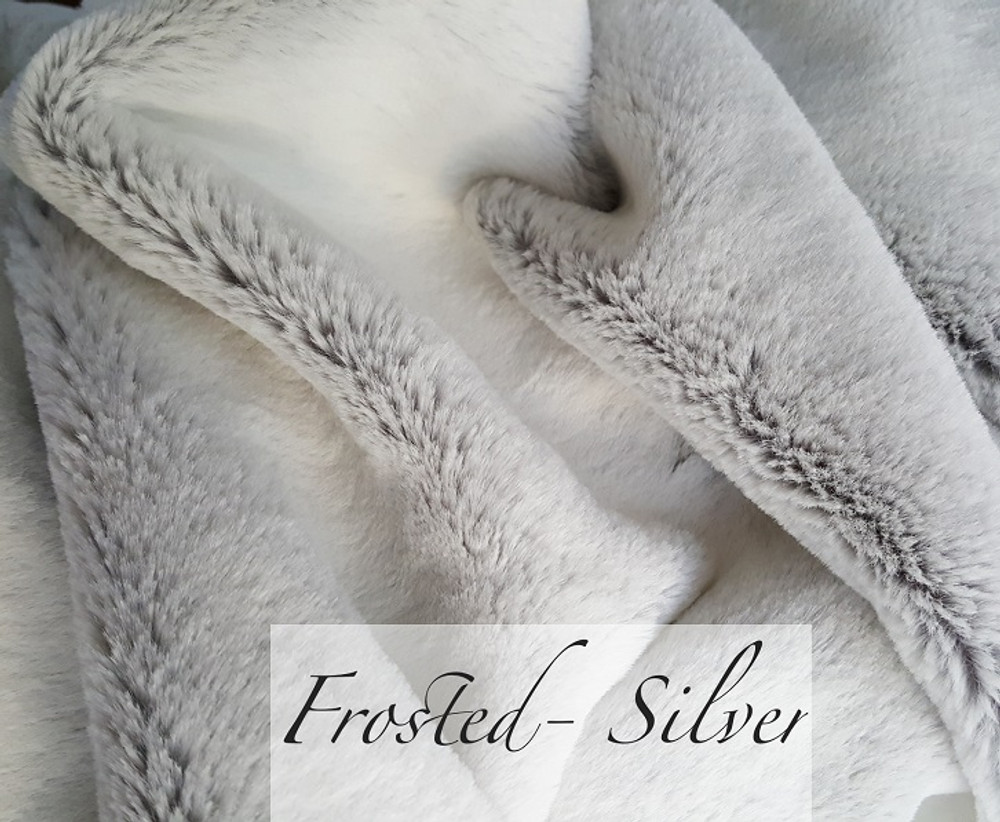 """A 50""""x60"""" Frosted Silver Blanket,w/ DIVINE Fabric & LockStitch *DEAL"""
