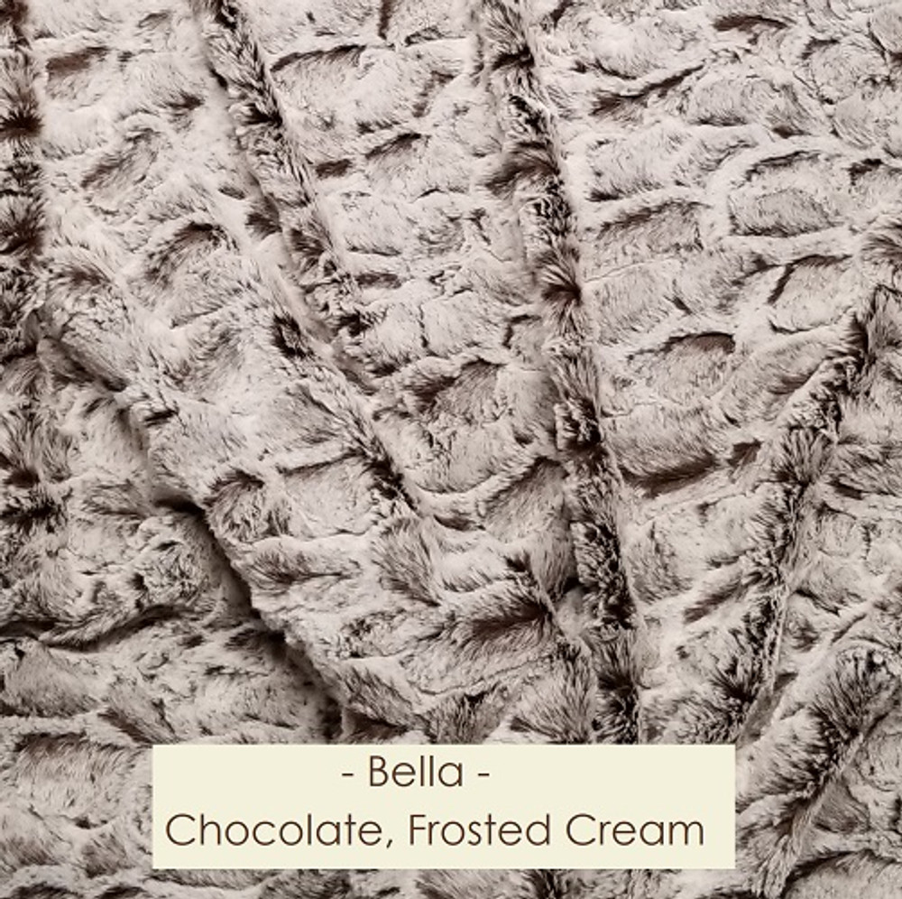 Bella in Dark Chocolate & Frosted Cream - Blanket