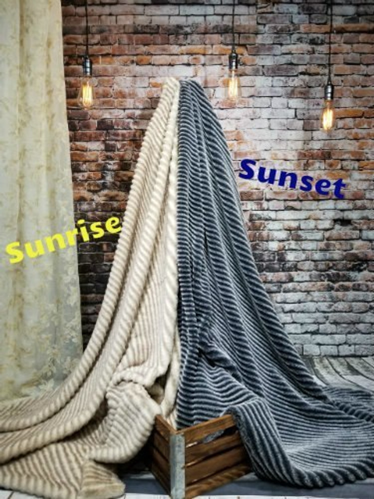 This Luxurious Minky Faux Fur comes in TWO colors. Sunrise & Sunset.