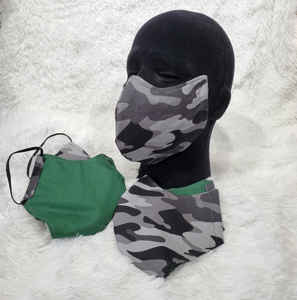 Camo with Green back