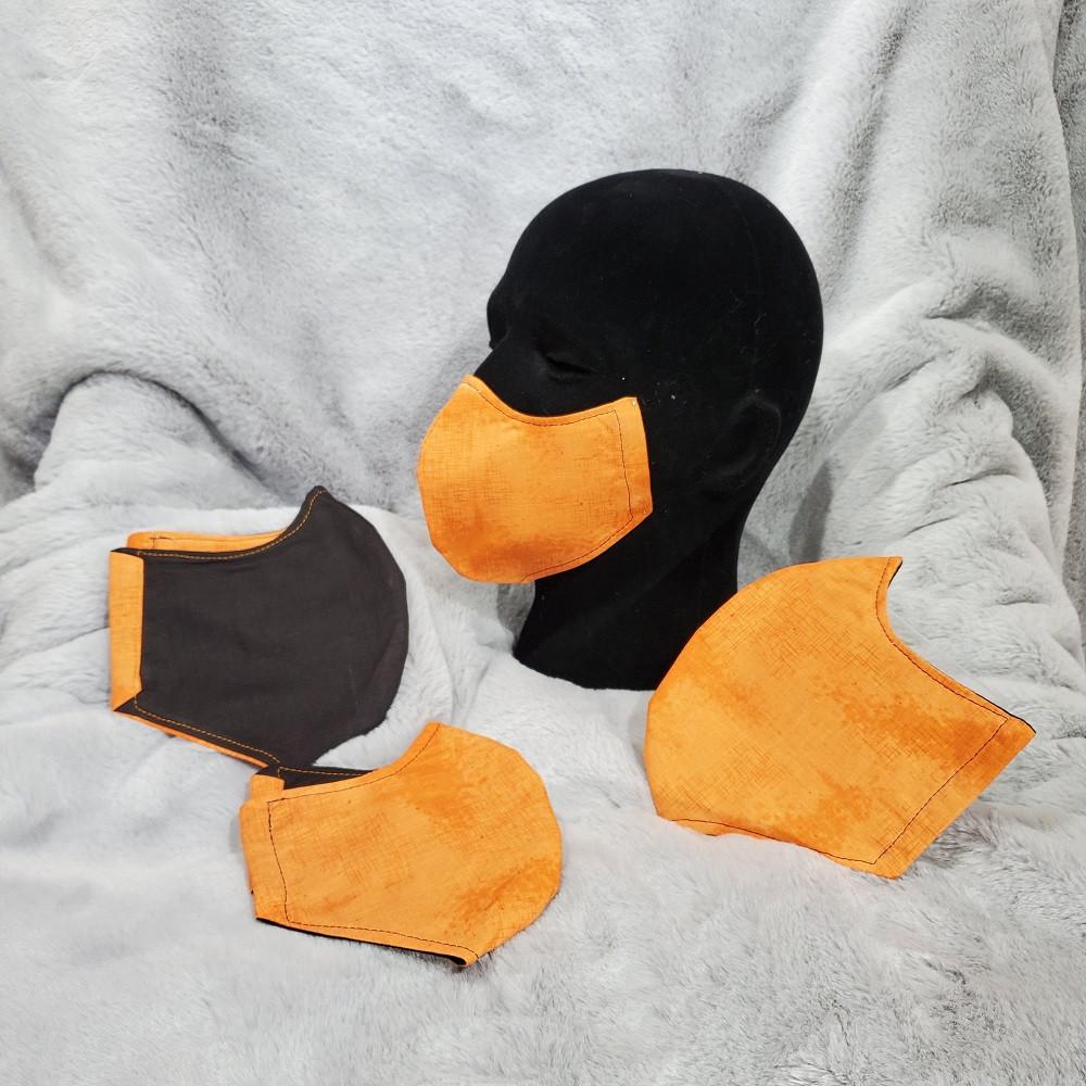 Shabby-Chic Orange with Black back.