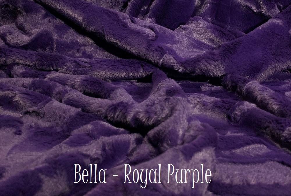 A Bella Royal Purple Travel Blanket, w/Silver Back *DEAL