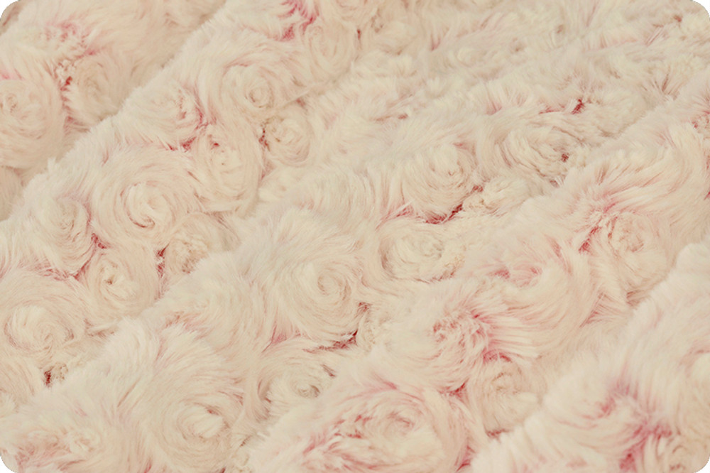 "A 40""x 60"" Frosted Roses Pink Blanket, w/ DIVINE Fabric *DEAL"