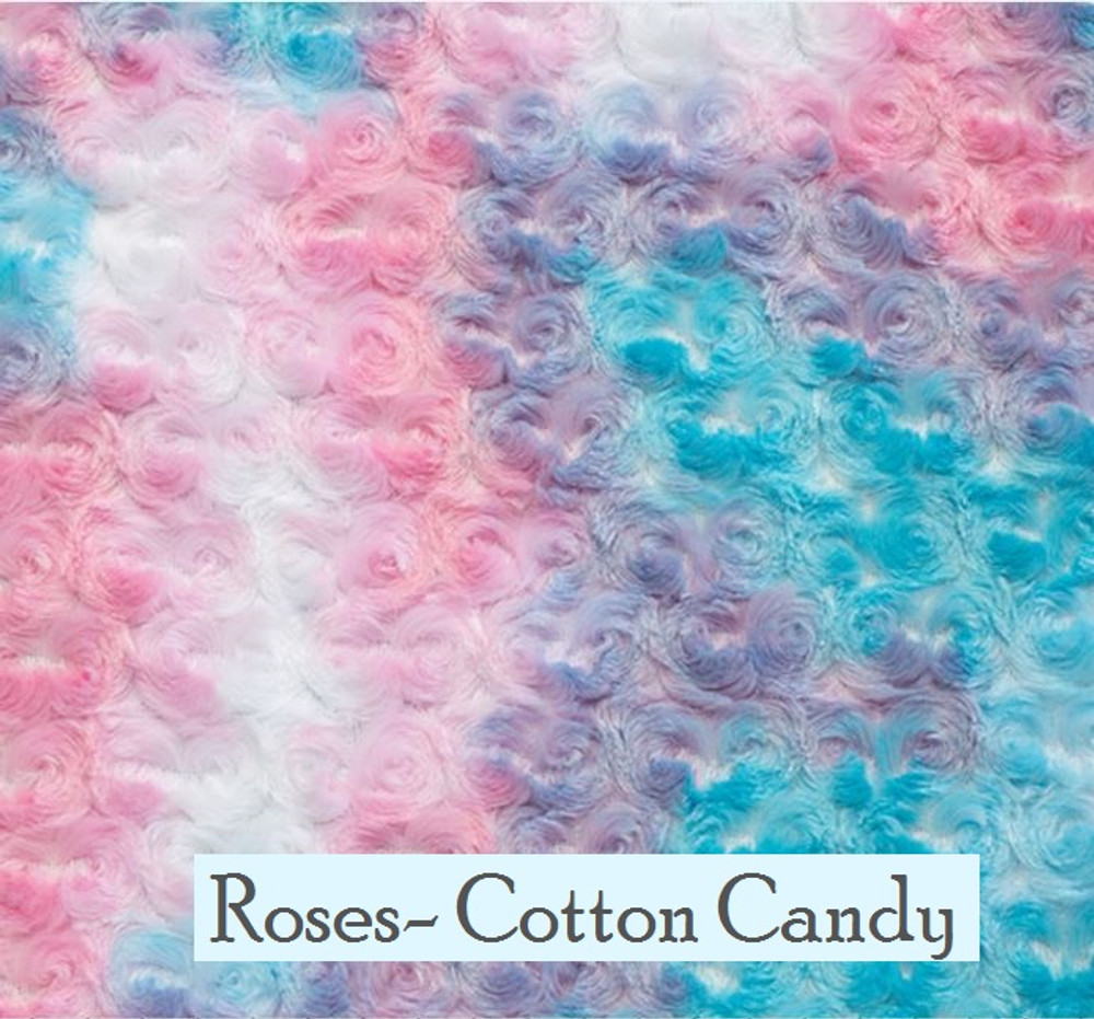 """A 40""""x60"""" Roses, Cotton Candy Blanket, w/ DIVINE Fabric *DEAL"""
