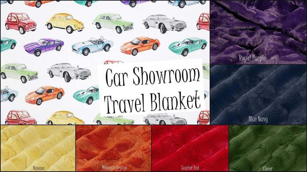 Car Showroom Travel Blanket
