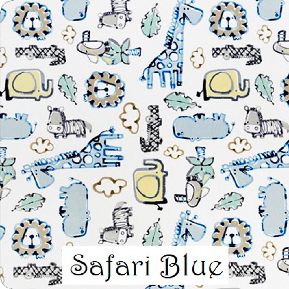 Safari Blue & Pink Travel Blanket