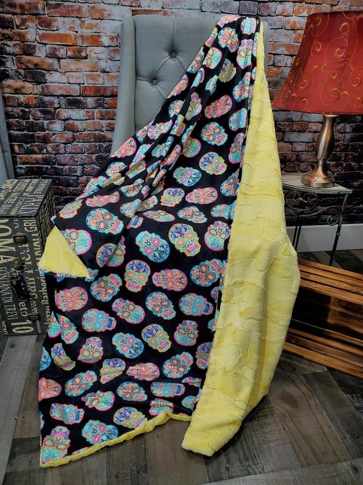 Sugar Skulls - Travel Blanket