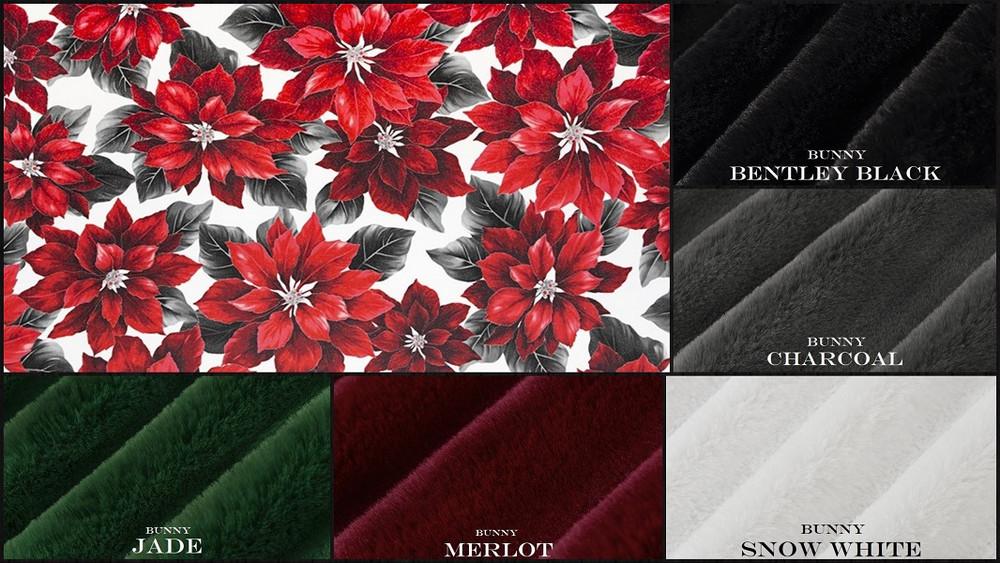Poinsettia & BUNNY - Travel Blanket