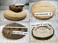 Here is an example of 3 different pet beds.  I am trying to show sizes , side by side