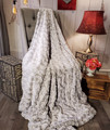 """A Gray & Frosted Warm/White, DIVINE Fabric 45""""x60"""" *DEAL"""