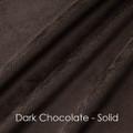"""PW Frosted Mocha w/ Dark Chocolate Back, 60""""x74"""" Patchwork Blanket"""