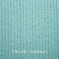 "*Chenille - Salt Water Blue:  30""x40"" Blanket *QS"