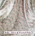 """A Silver & Frosted Pink 50""""x60"""" Blanket *DEAL"""