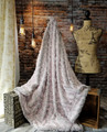 """A Silver & Frosted Pink 50""""x60"""" Blanket, w/DIVINE Fabric *DEAL"""