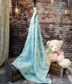 "*BELLA: Sea Glass-  30""x 40""  Blanket *QS"