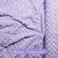 "*Roses - Lavender:  30""x 40"" Blanket *QS"