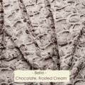 "A Dark Chocolate & Frosted Cream 55""x63"" Blanket *DEAL"