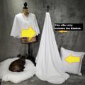 "A 42""x 60"" Snow White Luxury Velvet w/DIVINE Fabric *DEAL"