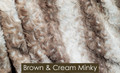 "A Brown & Cream Minky 50""x60"" Blanket *DEAL"