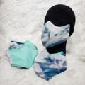 Blue Tie-Dye with Aqua back