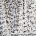 """A 60""""x40"""" Charcoal & Frosted Silver Blanket *DEAL"""