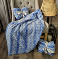 """A Bewitched Blue 30""""x45"""" Blanket, w/ DIVINE Fabric upgrade *DEAL"""