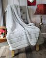 "A 62""x70"" Plush Silver  Minky Blanket, w/ DIVINE Fabric *DEAL"