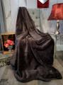 "A 40""x63"" Plush Dark Brown Minky Blanket w/DIVINE Fabric *DEAL"
