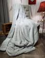 "A 45""x50"" Plush Bunny Silver Blanket, w/DIVINE Fabric *DEAL"