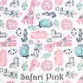 Safari Blue & Pink Blanket