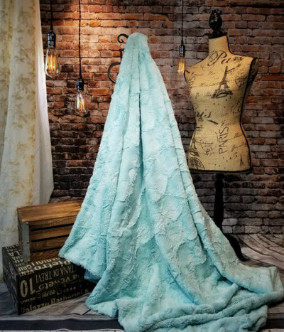 "*BELLA: Sea Glass-50"" x 60""  Blanket *QS"