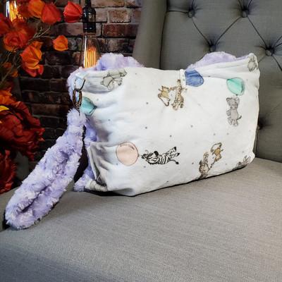 A Lavender Roses Travel Blanket, w/Animal/Balloon back *DEAL