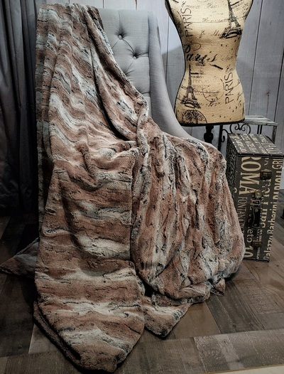 """A 60""""x60"""" Mountain Retreat Blanket, w/DIVINE Fabric upgrade *DEAL"""