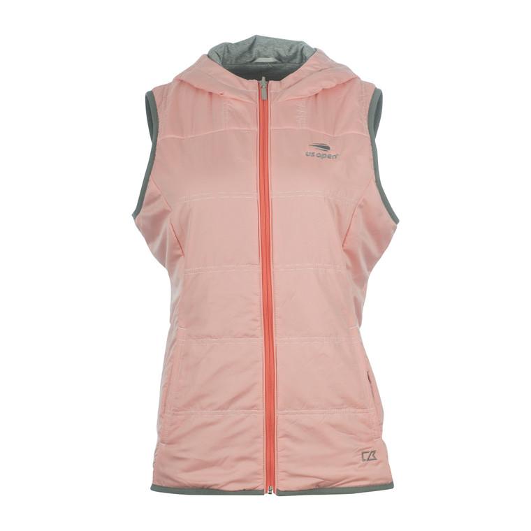 Women's Striped Full Zip Vest