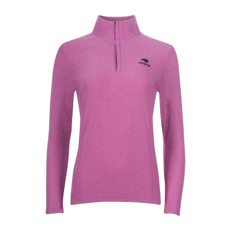 Women's Melange 1/4 Zip Pullover - Foxglove