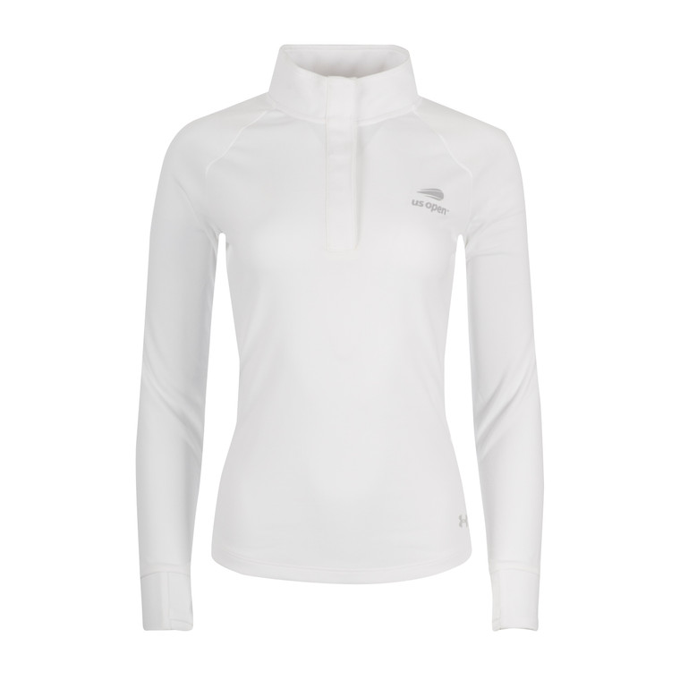 Women's Performance Double Knit 1/4 Snap Pullover - White