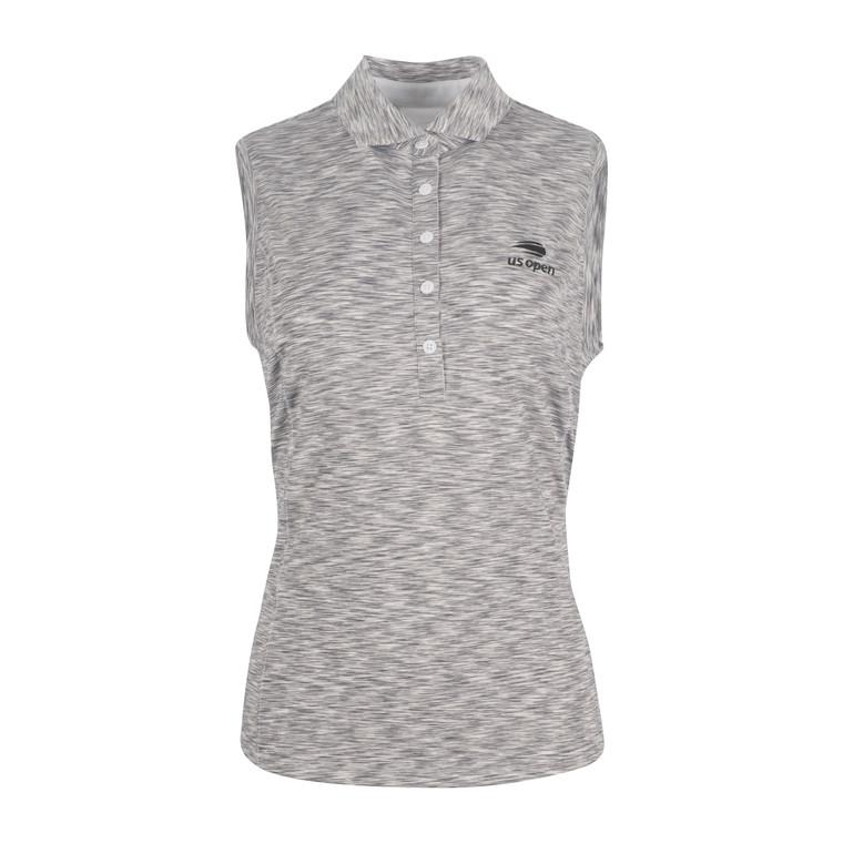 Women's Sleeveless Polo Shirt - Grey